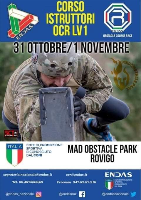 Corso Istruttori OCR 1° livello Rovigo 31/10 - 1 /11